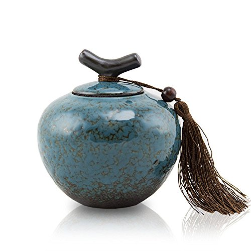 Small Ceramic Pet Urn - Turquoise - Dynasty Urn