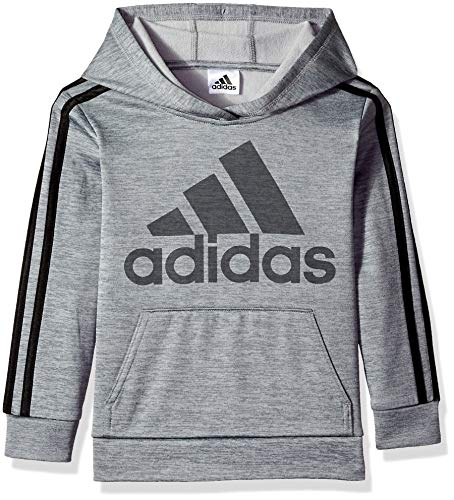 adidas Boys' Little Athletic Pullover Hoodie, Dark Grey Heather, - Pullover Adidas Athletic