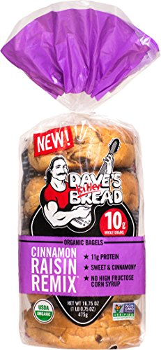 Cinnamon Raisin Remix NON GMO Bagels pack of 1