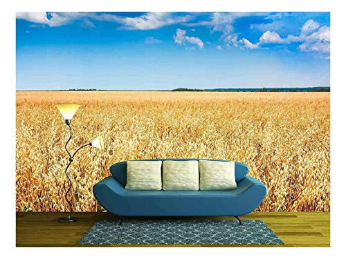 (wall26 - Blue Sky Over a Cereal Plant Field - Canvas Art Wall Decor - 100