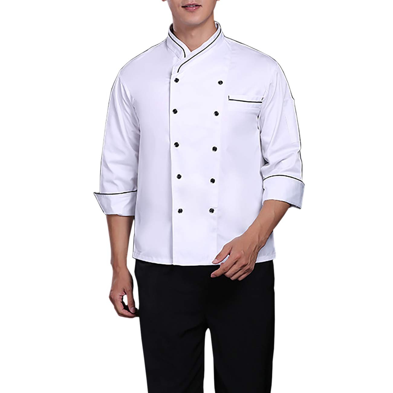 ShiyiUP Uniforme de Chef Unisexes Veste de Cuisine pour Homme et Femme