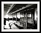 GreatBIGCanvas ''The Onboard Gym on The Titanic Showing The Rowing Machines and Exercise Bikes, 1912'' Photographic Print with black Frame, 36'' X 27''''