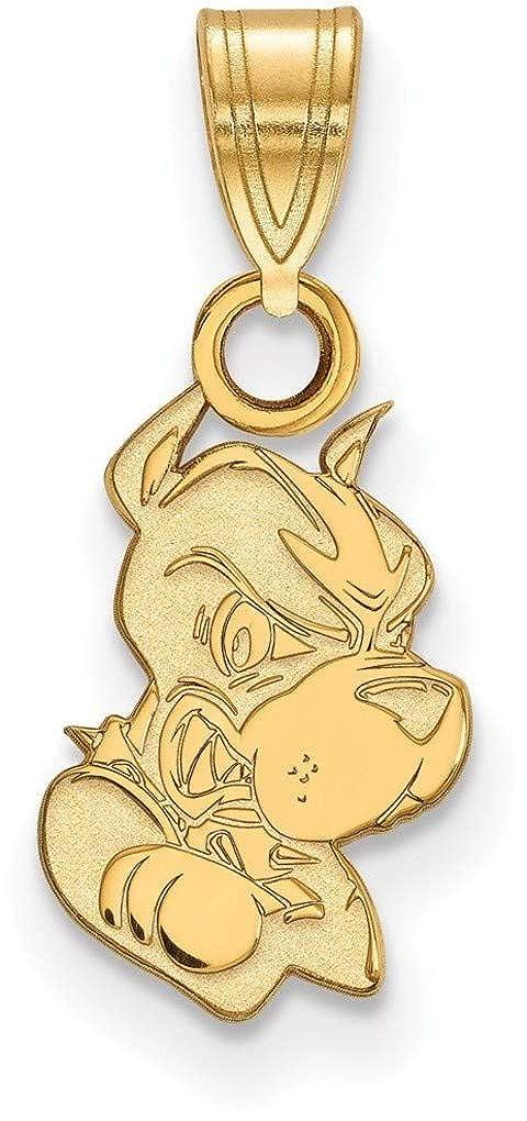 Gold-Plated Sterling Silver Boston University Small Pendant by LogoArt GP005BOU