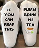 If you can read this socks | Bring me a tea socks | funny christmas gift | Stocking Stuffer | Tea Lover Gift | Writing on Socks