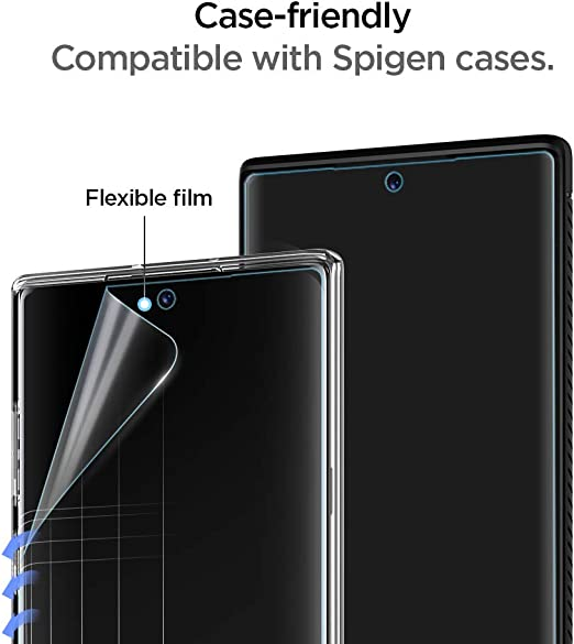 Spigen, 2 Pack, Protector Pantalla Samsung Galaxy Note 10 Plus, NeoFlex, No Vidrio Templado, Aplicación Húmeda, Compatible con Fundas, Sin Burbujas, Anti-Arañazos, Anti-Huellas Dartilares (627FL27292): Amazon.es: Electrónica