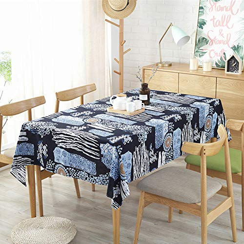 Bohemian Ethnic Style Tablecloth Linden Cotton Western tablecloth140X200cm\55x78.7 in