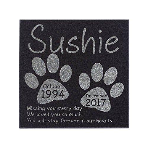 Memorial Pet Headstone - Loyal Companion, Dog and Cat Personalized Custom Granite Grave Marker D-3 (Dog Memorial Personalized Stones)