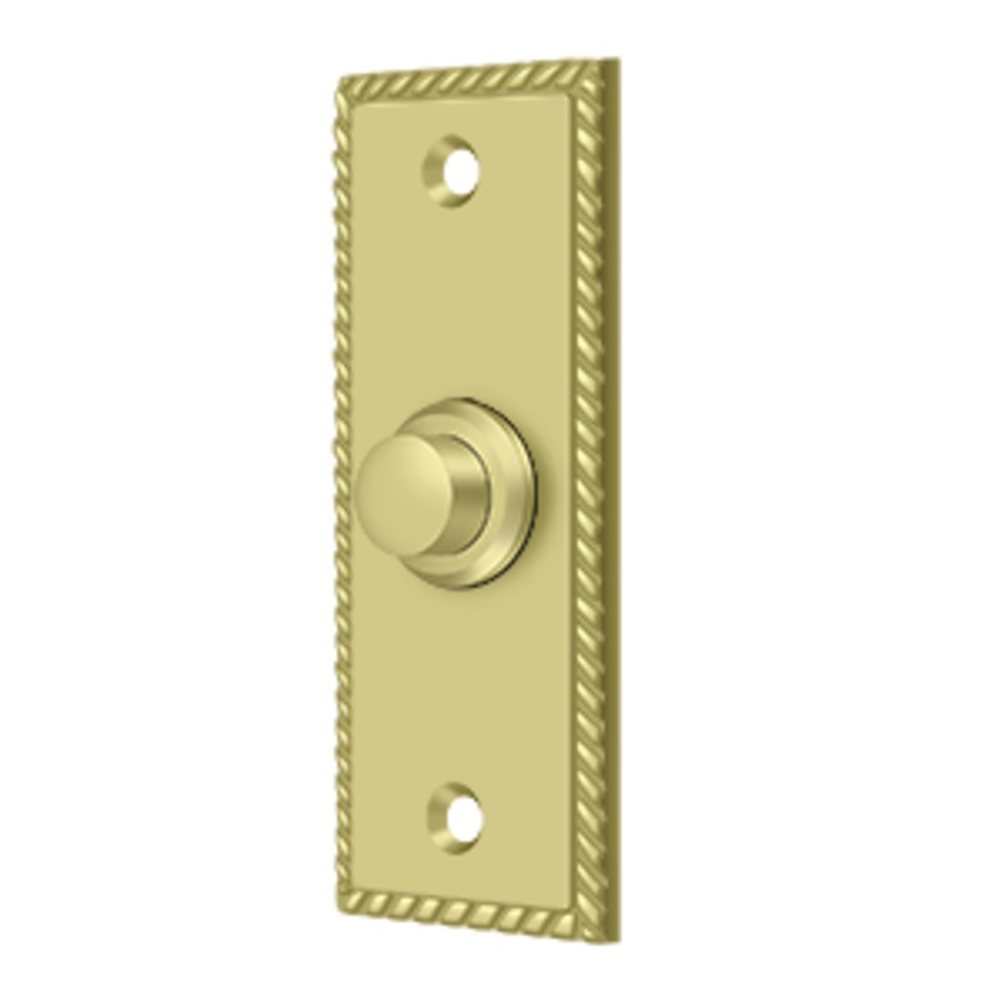 Solid Brass Rectangular Rope Bell Button Oil Rubbed Bronze