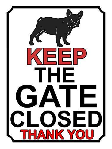 ゲートを閉じたままにする 注意看板メタル金属板レトロブリキ家の装飾プラーク警告サイン安全標識デザイン贈り物