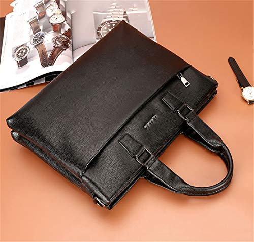 Shoulder Hommes Meceo Ensemble Tablette Bags En Porte Affaire Noir Mature Handbag Sac usage Cuir À Document Grand Bandoulière Vintage Multi zfxCqazrw