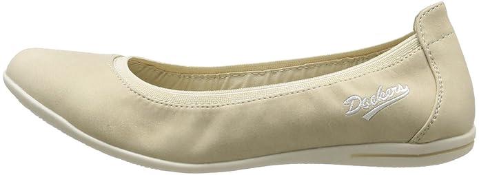 344023-030118 - Bailarinas para mujer, color beige, talla 38 Dockers