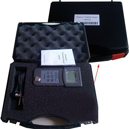 VTSYIQI Handheld Digital Ultrasonic Thickness Gauge Tester Meter Ultrasonic Thickness Gage 1.0 to 245mm/0.05 to 8 inch (in Steel) 0.1mm LCD Ultrasonic Thickness Measuring Meter -