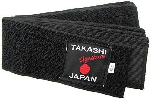 Elástico - 'Kuro' cinturón Obi Flexi Iaido - KENDO, AIKIDO cinturón negro Takashi 400 cm x 8 cm - gama de la firma japonesa fácil cómoda corbata