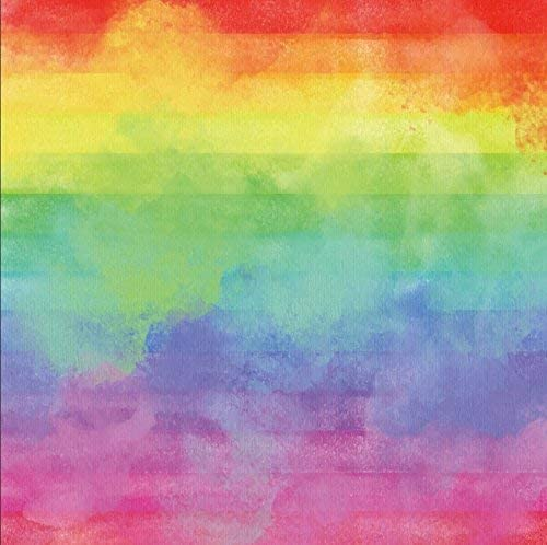 5x4FT Photography Backdrop Grunge Graffiti Vintage Oil Painting Board Rainbow Colored Birthday Party Baby Shower Banquet Dessert Table Decor Pets Photo Portrait Vinyl Video Studio Prop