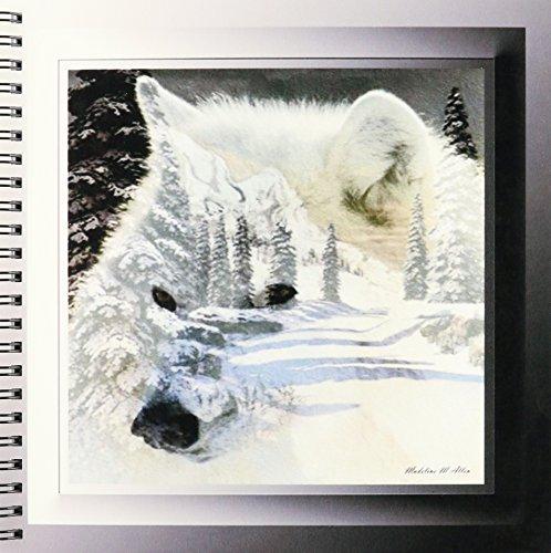ワイルドライフデザイン–Spirit of the Wildernessホワイトウルフ–Drawing Book 8x8 drawing book db_26660_1