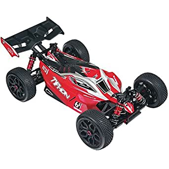 ARRMA 1:8 Scale RTR Remote Radio Control Car: TYPHON 6S BLX 4WD Electric RC Speed Buggy with  2.4GHz Radio, Servo, ESC, and Brushless Motor