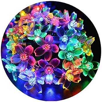 CJsolar Set of 15 Glass Jar with Happy Flowers Solar String Lights Lanterns Warm White for Outdoor Garden Party Wedding Waterproof Cork