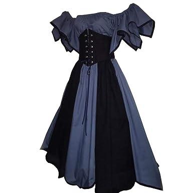 yunhou Mujer Vintage Bandeau Vestido sin Hombros Vestido de Noche ...
