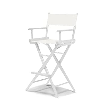 Amazon.com: Telescope Casual World Famous Bar Height Director Chair, White  With White Frame: Home Improvement