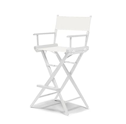 Delicieux Telescope Casual World Famous Bar Height Director Chair, White With White  Frame