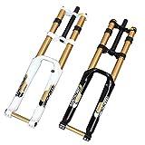 """Choose DH Downhill Mountain Bike Air Fork 1-1/8"""" 180mm 20mm Axle 26"""" Black White"""