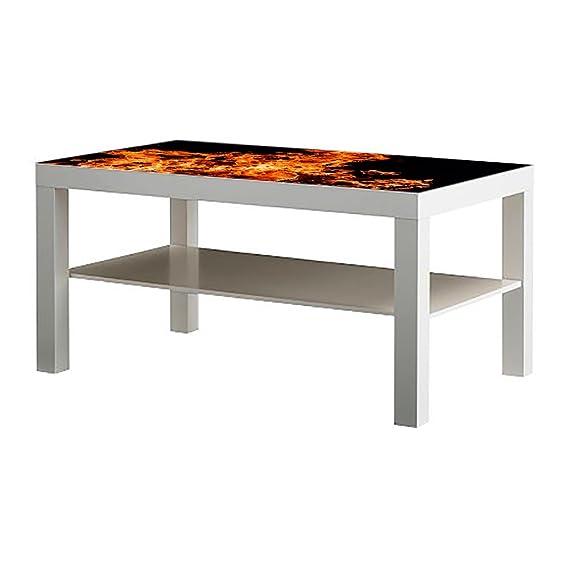 Metacrilato para Mesa IKEA Lack Personalizada Fuego | Medidas 1,18 ...
