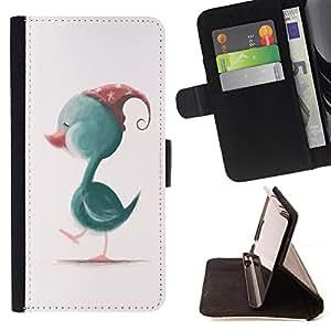 King Case - FOR Samsung Galaxy A3 - think of still owe - Prima caja de la PU billetera de cuero con ranuras para tarjetas, efectivo Compartimiento desmontable y correa para la mu?eca
