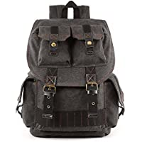 Kattee Fashion Canvas DSLR SLR Camera Case Backpack Rucksack Bag