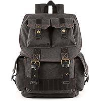 Kattee Fashion Canvas DSLR SLR Camera Case Backpack Rucksack Bag