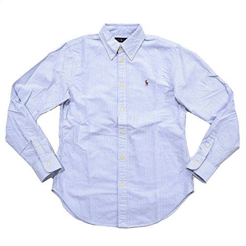 Ralph Lauren Womens Oxford Classic Fit Button Down Shirt (XS, Powder Blue (Ralph Lauren Stripe Shirt)