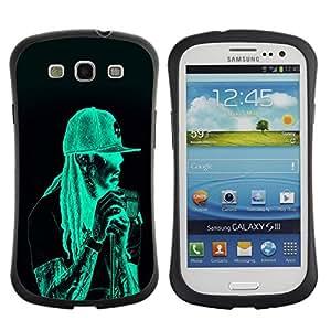 Paccase / Suave TPU GEL Caso Carcasa de Protección Funda para - Neon Rasta Guy - Samsung Galaxy S3 I9300
