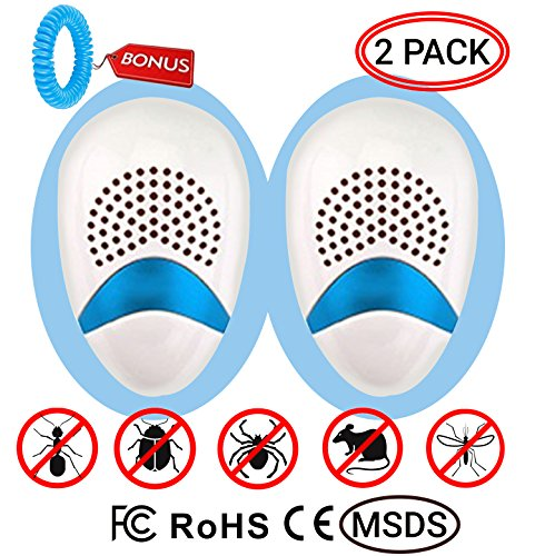 Wh Shop Ultrasonic Pest Repeller Insect Repellent  Spider   Mice  Mosquitoes  And Other Insects Repellent  Non Toxic  2 On One And Mosquito Repellent Bracelet