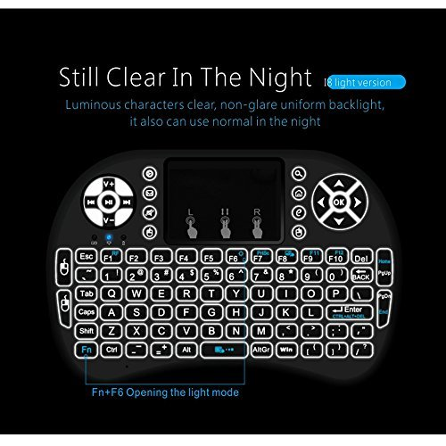 Rii 10038-TPSK I8 Mini 2.4Ghz Wireless Touchpad Keyboard ...