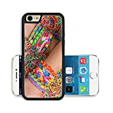 Liili Premium Apple iPhone 6 iPhone 6S Aluminum Backplate Bumper Snap Case IMAGE ID 32330287 Loom bracelets colorful rubber in background