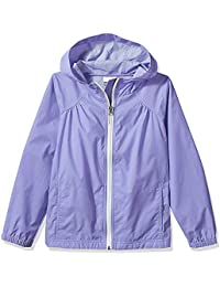 Girls' Zipper Lightweight Waterproof Windproof Rain Jacket Hoodies with Pockets