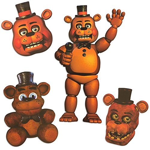 Five Nights at Freddy's Freddy Character Cutouts (4 Pieces - 20
