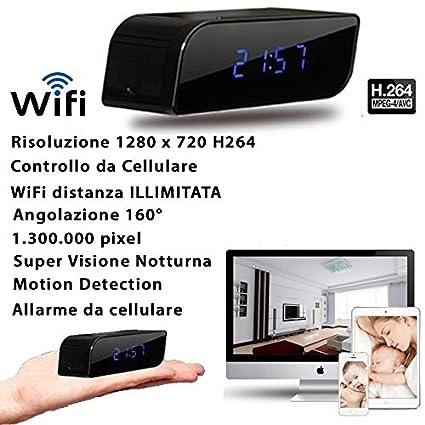 Reloj despertador con cámara espía integrada, visión nocturna, 3G, WiFi, modelo CW147