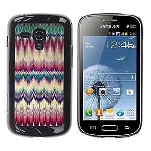 FECELL CITY // Duro Aluminio Pegatina PC Caso decorativo Funda Carcasa de Protección para Samsung Galaxy S Duos S7562 // Carpet Feather Native American Culture
