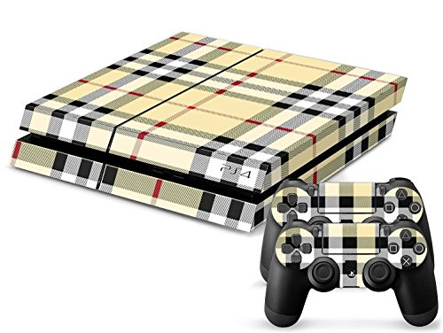 CSBC Skins Sony PS4 Design Foils Faceplate Set - Checkered Design