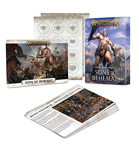 Games Workshop Age of Sigmar Sons of Behemat Warscroll Cards