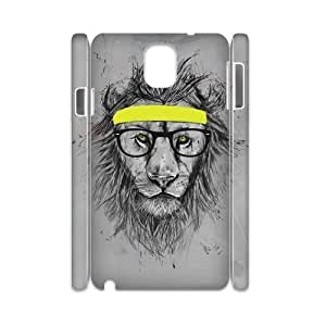Cool lion DIY 3D Phone Case for Samsung Galaxy Note3 N9000,Cool lion custom 3d phone case series 1