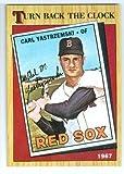Carl Yastrzemski baseball card (Boston Red Sox YAZ) 1987 Topps #314 Turn Back the Clock 1967