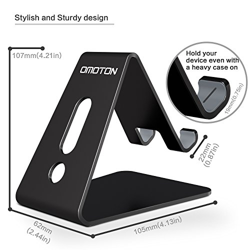 Desktop Cell Phone Stand Tablet Stand Updated Solid Version Advanced Thickness Aluminum Stand Holder for Mobile Phone and Tablet 4