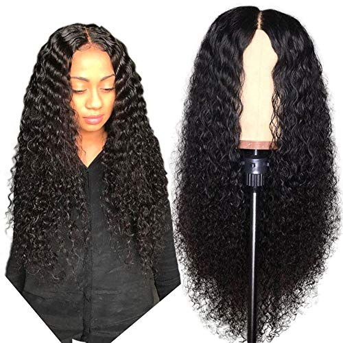 13x6 Glueless Lace Front Wigs Brazilian Virgin Hair Deep Loose Wave Lace Front Wigs Bleached Knot with Baby Hair (24 inch, Lace Front Wig)