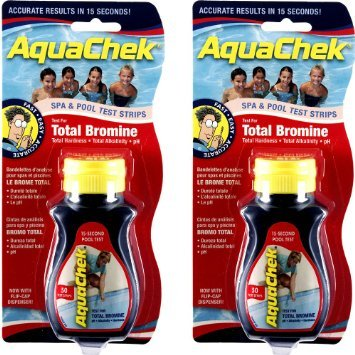AquaChek BROMINE POOL AND SPA TEST STRIPS x 2 Bottles