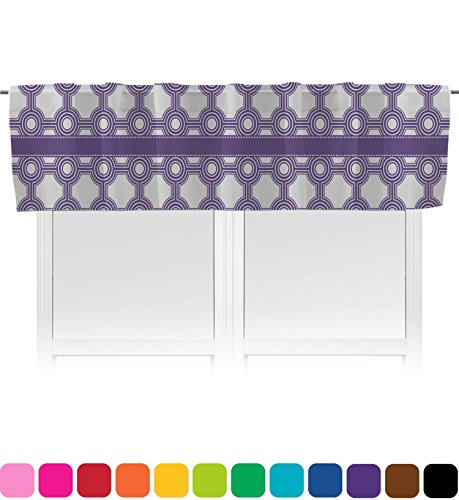 RNK Shops Connected Circles Valance - Unlined (Personalized) (Circle Valance Dot)
