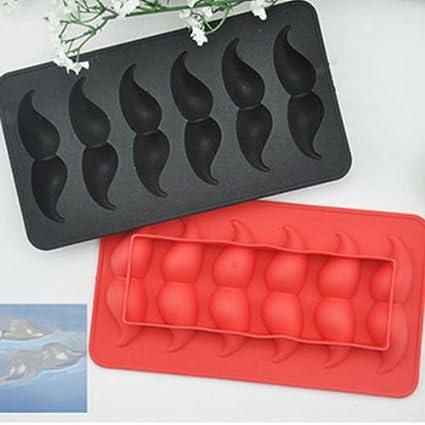 Diseño de molde de silicona hielo barba para hacer Chocolate molde herramientas al azar