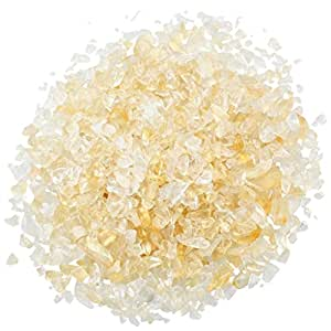 1 lb/Bag Citrine Tumbled Chips,eGlomart Small Stone Crushed Pieces Irregular Shaped Stones Healing Reiki Crystal-[About 460 gram]