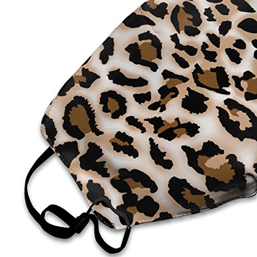 Befectar 100% Polyester Fibe Dust Mask Anti Pollution Breathable Mask Reusable Adjustable Environmentally Ear Loop Face Mask Leopard Prints Printed