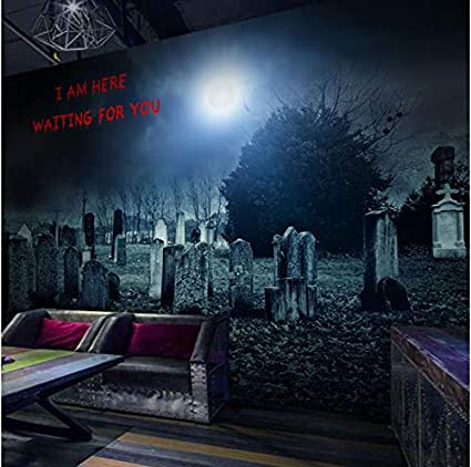 ZLJTYN Customize Wallpaper | 3D Psychic Terrorist Theme Murals Room Escape The Wolf, The Wolf